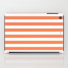 Horizontal Stripes (Coral/White) iPad Case