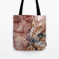 Human Owl Tote Bag