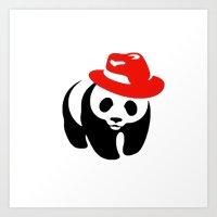 panda Art Prints featuring Panda by ArtSchool