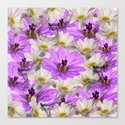 Floral Circle Abstract Canvas Print