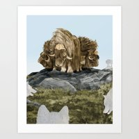 The Wolves Are Closing I… Art Print