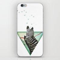 roaring silence iPhone & iPod Skin
