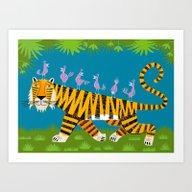 Tiger Transportation Art Print