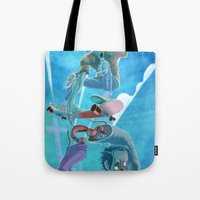 Zombies and Skateboards Tote Bag