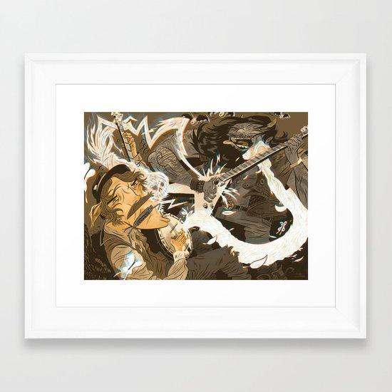 Folk vs. Metal Framed Art Print