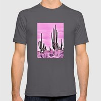 Wild Cactus Mens Fitted Tee Asphalt SMALL