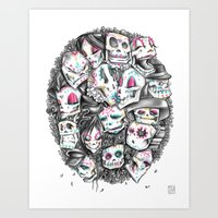 LOS CALACAS Art Print