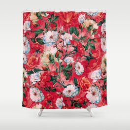 Shower Curtain - Rose Red - RIZA PEKER