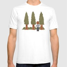Happy Trees Mens Fitted Tee White MEDIUM