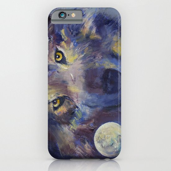 Grey Wolf Moon iPhone & iPod Case