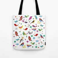 Birds pattern Tote Bag