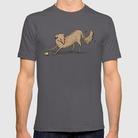 Playful Dog Mens Fitted Tee Asphalt SMALL