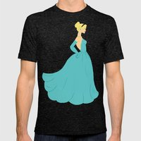 Cinderella Mens Fitted Tee Tri-Black SMALL