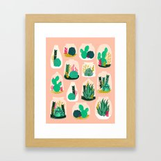 Terrariums - Cute Little… Framed Art Print