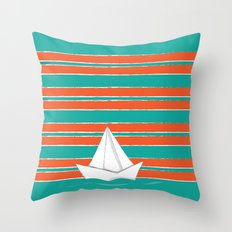 PaperBoat Throw Pillow