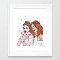 Gigi Hadid & Jourdan Dunn Maybelline NY   Framed Art Print