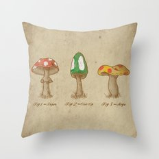 Mario Mycology Throw Pillow