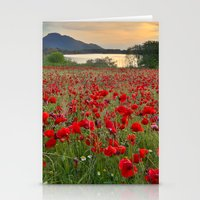 Field Of Poppies In The … Stationery Cards