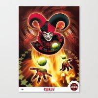Poster Cirkus Canvas Print