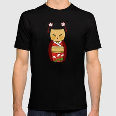 Kokeshi Ai  Mens Fitted Tee Black SMALL