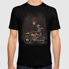 Death Rides in the Night Black SMALL Mens Fitted Tee