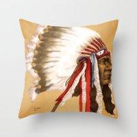 Crow Native American Throw Pillow
