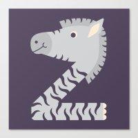 Letter Z // Animal Alpha… Canvas Print