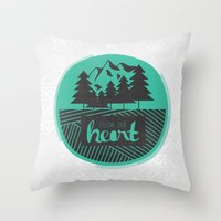 Follow Your Heart Throw Pillow