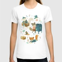 Critter Post Womens Fitted Tee White SMALL