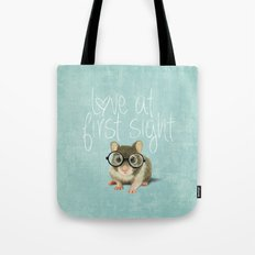 Little mouse in love Tote Bag