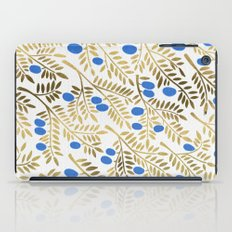 Olive Branches – Gold & Blue iPad Case