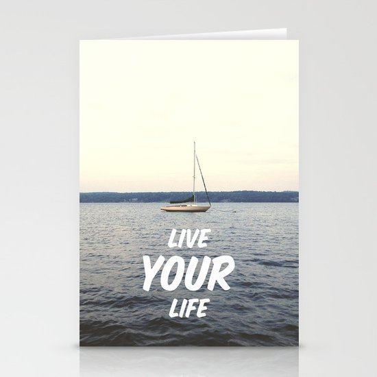 Live Your Life Stationery Card