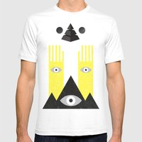 PYRAMIDº Mens Fitted Tee White SMALL