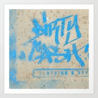 DIRTY CASH - TAGGING STREETART MIAMI by Jay Hops Art Print