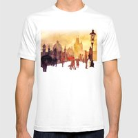 Charles Bridge Mens Fitted Tee White SMALL