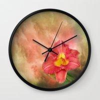 Beautiful Day Lily Wall Clock