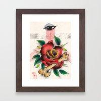 The Eye, The Rose, The B… Framed Art Print