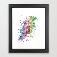 A Crow of Lace and Color Framed Art Print