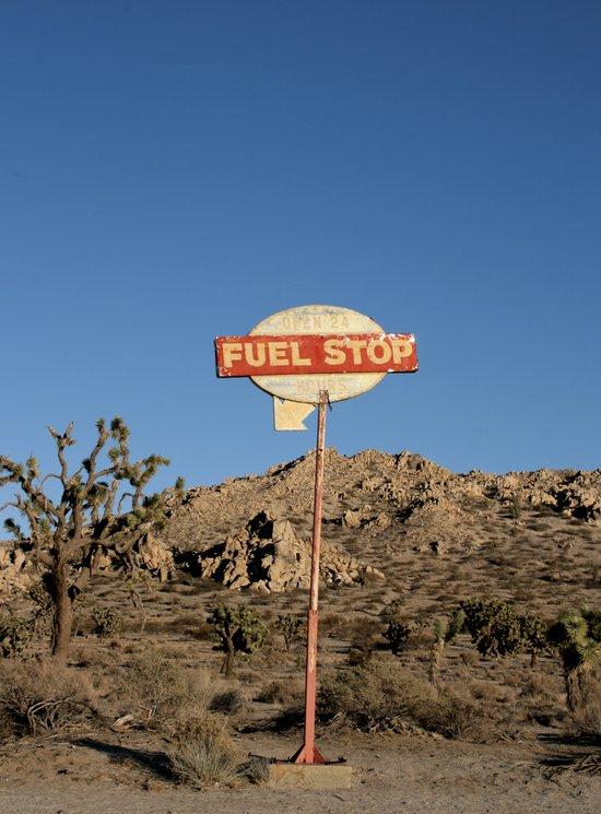 Fuel Stop Canvas Print