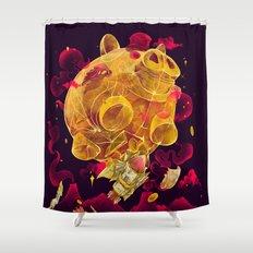 Piggy Boom Shower Curtain