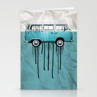 VW Kombi 2 Tone Paint Jo… Stationery Cards