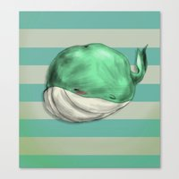 Tubby Sketch Whale Canvas Print