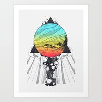 Filtering Reality Art Print