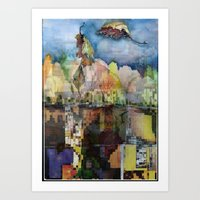 Central Park In Autumn Art Print