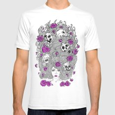Purple Lady Nature. Mens Fitted Tee SMALL White