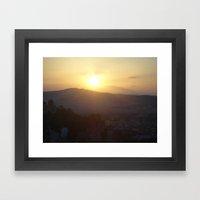 Sunset in Athens - Greece Framed Art Print