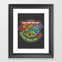 Angry Mutant Ninja Birds Framed Art Print