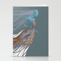 Trapped In Space Stationery Cards