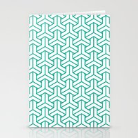bishamon in emerald Stationery Cards