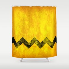 Distressed Charlie Brown Shower Curtain